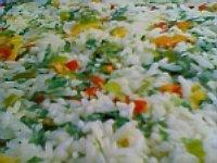 Arroz cremoso com vegetais